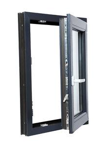 Finestre in PVC Colore ANTRACITE Aluplast IDEAL 4000 Larghezza: 850 mm