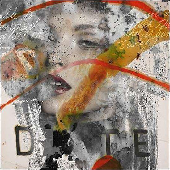 Micha Baker:Sensations Keilrahmen-Bild Leinwand Frau Portrait modern Pop Collage
