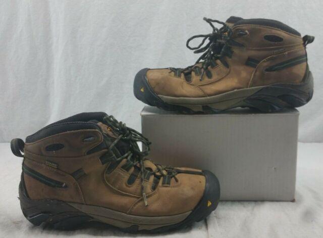 708024c453888 KEEN Utility Men's Detroit Mid Steel Toe Waterproof Work BOOTS Color  Brindle 12