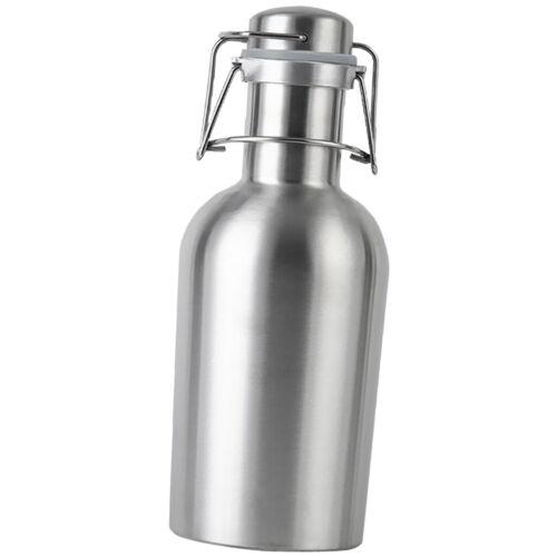 1 L Edelstahl Wasser Tee Bierflasche Swing Top Flachmann  mit Klappdeckel
