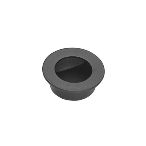 Matte Black Round Flush Door Handle