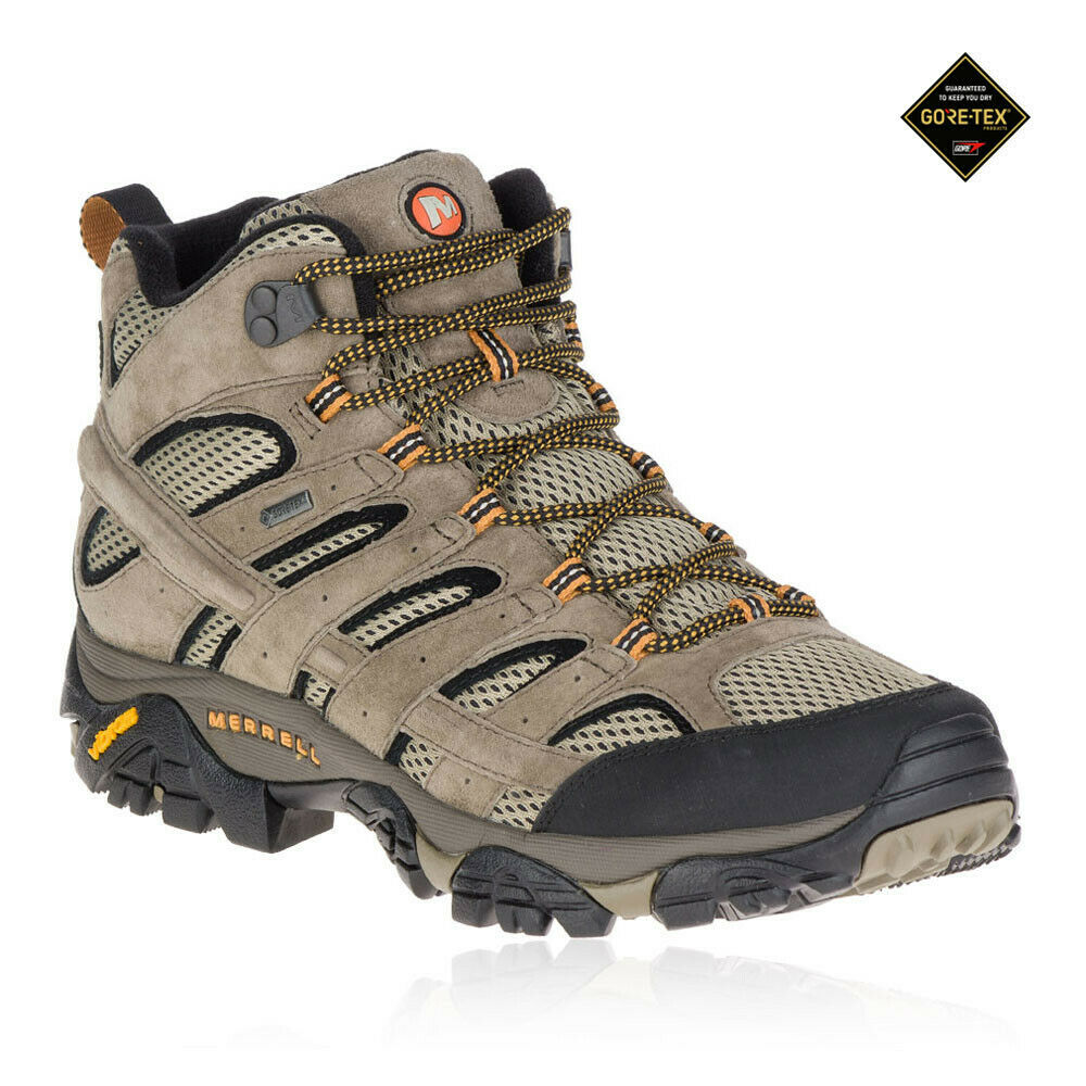 Merrell Moab 2 Mid mannens bruin Gore Tex wandelen Hiking laarzen schoenen