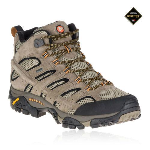 Merrell Moab 2 Mid pour homme Marron Gore Tex Marche Randonnée Bottes Chaussures