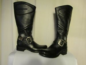 bottines-new-rock-cuir-graine-noir-pointure-37
