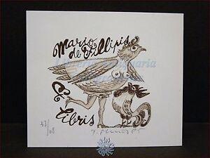 Erotica - Ex-libris Originale Firmato Donna Gallina E Gallo, Mario De Filippis Lrfaka0q-07235837-507141507