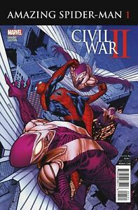 Details about Civil War II Amazing Spider-Man Comic Issue 1 Limited Variant  Modern Age 2016
