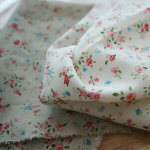 Linen-amp-Cotton-Fabric-Mini-Rose-by-the-yards-57-034-Cozy-Mini-Rose