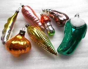 7-Antiker-Russen-Christbaumschmuck-Glas-Weihnachtsschmuck-Ornaments-Vegetables