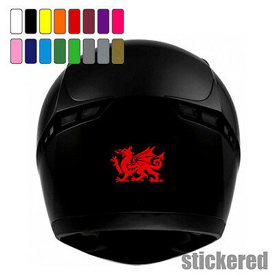 2 x WELSH DRAGON STICKERS / DECALS FOR MOTORBIKE / SCOOTER HELMET FAIRING CYMRU