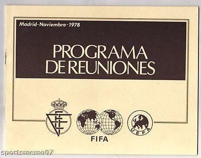 Genossenschaft Orig.einladung / Prg Fifa Kongress Madrid(spanien) 1978 !! Extrem Selten GläNzend