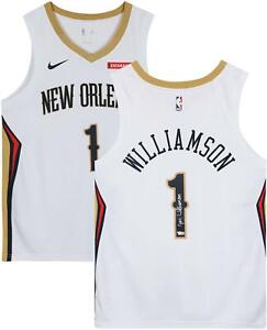 Zion-Williamson-New-Orleans-Pelicans-Autographed-Nike-White-Swingman-Jersey
