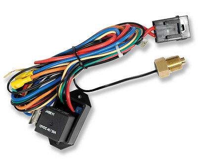 Compact Adjustable Electric Fan Controller and Relay Kit with Thread-In Probe