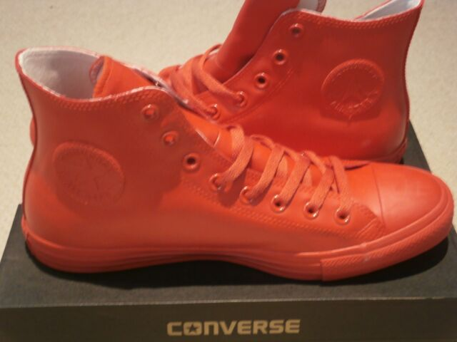 9d0fb5f0d19e Converse All Star Hi Rubber 14474 SNEAKERS Unisex 41 5 Red N0046534 ...