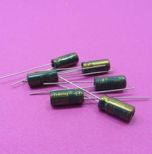 Condensador electrolítico 50V 10uF Chong baja ESR genuino de alta frecuencia