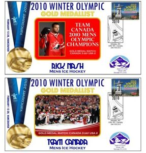 RICK NASH CANADA 2010 OLYMPIC ICE HOCKEY GOLD Cvs