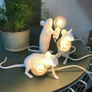 Goldene tischlampe maus schreibtisch licht nacht harz lampe sitzen nachtlicht