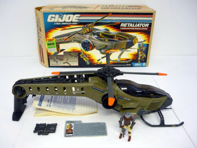GI JOE RETALIATOR Vintage Action Figure Vehicle COMPLETE w/UPDRAFT & BOX 1990