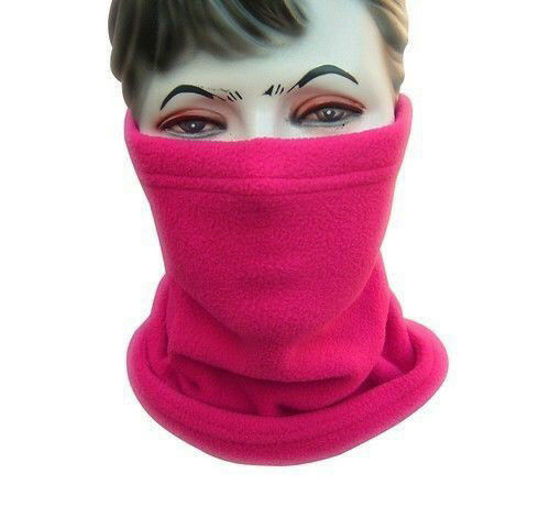 Winter Warm Fleece Snood Scarf Men Women Neck Warmer Ski Balaclava Beanie Hat