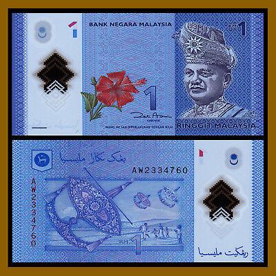 New!! Malaysia P-New 2012 Polymer 1 Ringgit Gem UNC