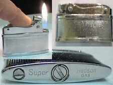 Briquet Ancien -- SUPER by HADSON -- Vintage gas Lighter Feuerzeug Accendino