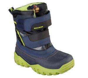 mejor servicio 252b7 28d40 Detalles de Skechers Alto Pendientes Botas para Niños Impermeable Invierno  Nieve Lluvia Frío