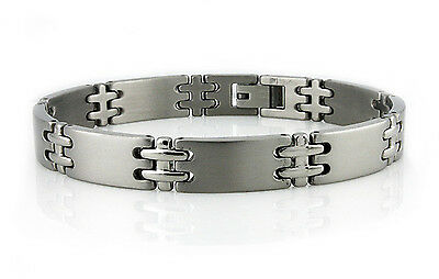 Titanium Thin Cross Link Bracelet 8.5""