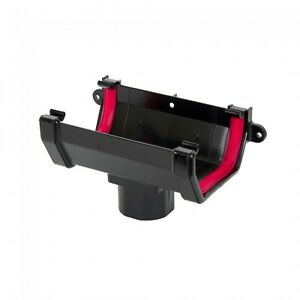 Freeflow-Square-Line-UPVC-Gutter-Downpipe-Running-Outlet-Black-FRS605-38L79
