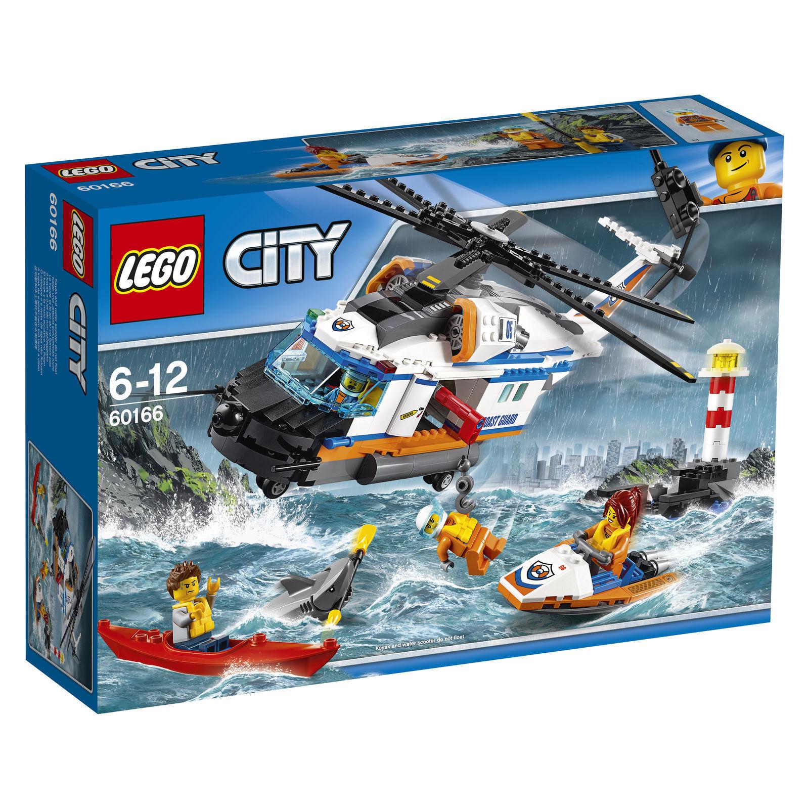 LEGO CITY 60166 SEENOT RETTUNGSHUBSCHRAUBER KÜSTENWACHE 6-12 JAHRE NEU+OVP