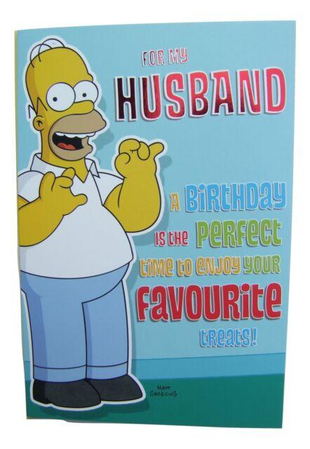 3d unusual happy birthday husband greetings card ebay simpsons homer birthday card for a husband by hambledon hlw126 m4hsunfo