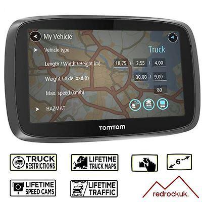 TomTom Trucker 6000 Lifetime GPS Sat Nav - Full Europe Lifetime Maps & Traffic