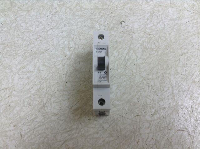 1A Siemens 5SL4101-7 Circuit Breaker 230//400V 10KA White 1POLE C