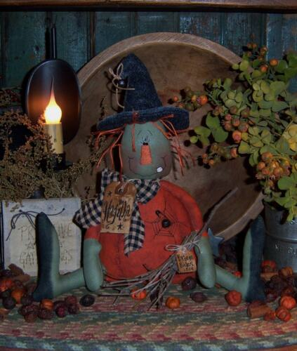 Primitive Halloween Witch Hagitha Pinkeep Paper Pattern #181