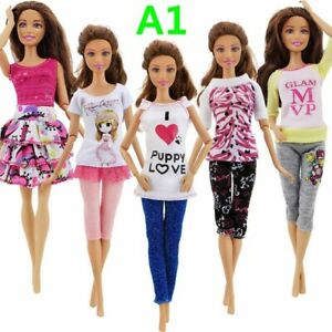 Barbie-Doll-Fashion-Dress-Accessories-Clothes-Girl-X-mas-Toy-Kids-free-shipping
