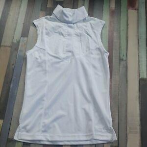 Aubrion Sleeveless stock Show Shirt UK 8 10 small S white
