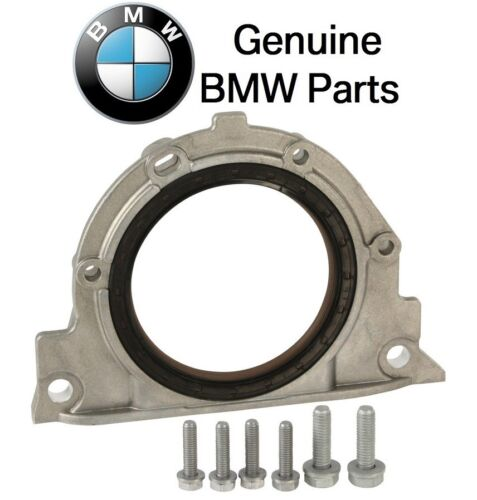 For BMW E36 E39 E46 Rear Crankshaft Seal Kit Seal Housing Gasket Bolts Genuine
