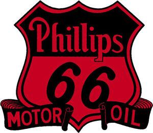 Phillips 66 Motor Oil Vinyl Sticker A946 12 Inch Ebay