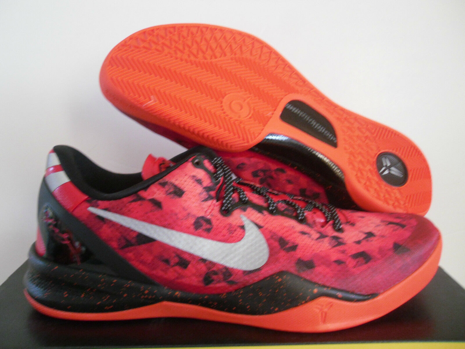 NIKE KOBE 8 VIII SYSTEM CHALLENGE RED-TEAM ORANGE SZ 13.5  [555035-600]