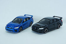 TOMICA~ No.112 SUBARU WRX STI Type S Black(初回) & Blue 2 cars~1/62  Free Shipping