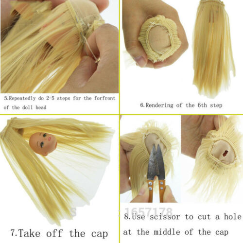 5cm Dolls wig high temperature wire curly hair for 1//3 1//4 1//6 BJD SD