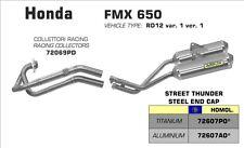 LIGNE COMPLETE ARROW TITANE HONDA FMX 650 2005/06/07/08 - 72069PD+72607PO