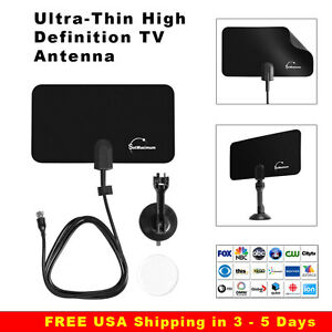 Digital high definition ultra thin flat antenna hdtv tv hd vhf fox scout style ebay - Ultra high def tv prank ...
