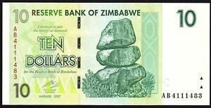 2007-Zimbabwe-10-Dollars-Banknote-AB-4111483-aUNC-P-67