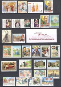 2017-Vatican-Vatican-City-Year-Complete-29-Val-5-Sheetlets-1-Stickers-MNH