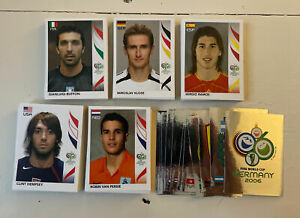 LOT OF 250 PANINI WORLD CUP GERMANY 2006 STICKERS *PACK FRESH*