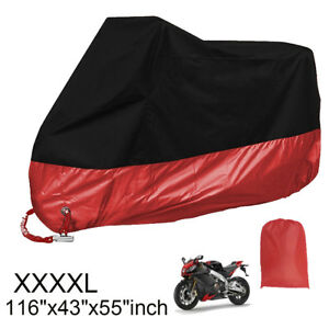 4XL 190T Waterproof Motorcycle Cover Dust Rain Protector Fit for Bike Motorcycle