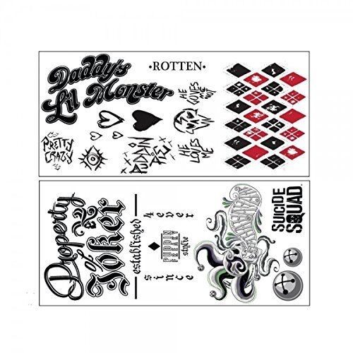Sucide Squad Harley Quinn Waterproof Temporary Tattoo Nk475gssq