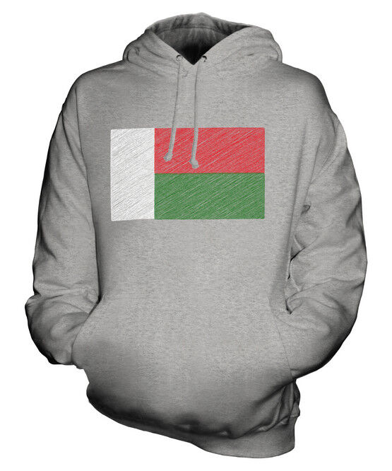 MADAGASCAR SCRIBBLE FLAG UNISEX HOODIE TOP GIFT MADAGASIKARA MALAGASY