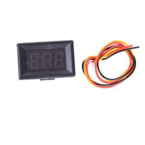 Mini Voltimetro Medidor de Voltaje Presion Digital DC 0-30V Amarillo C3A2