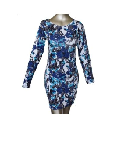 BODY CON-SLEEVE-SWING-SKATER-PARTY-DRESS-TOP LS1 LADIES LEOPARD-WOMAN-LONG