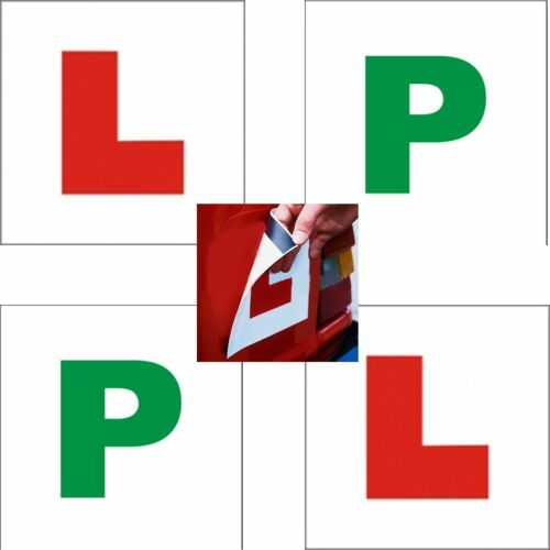MAGNETIC L /& P PLATES Learner Driver Exterior Car Learning  Sign Plate UK New